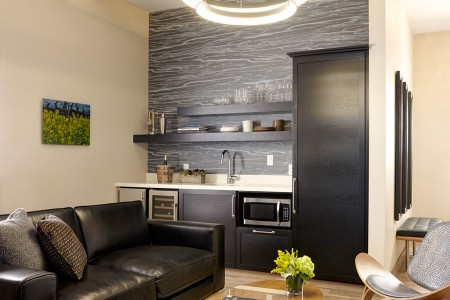 Archer's Den - fully stocked wet bar and living area seating