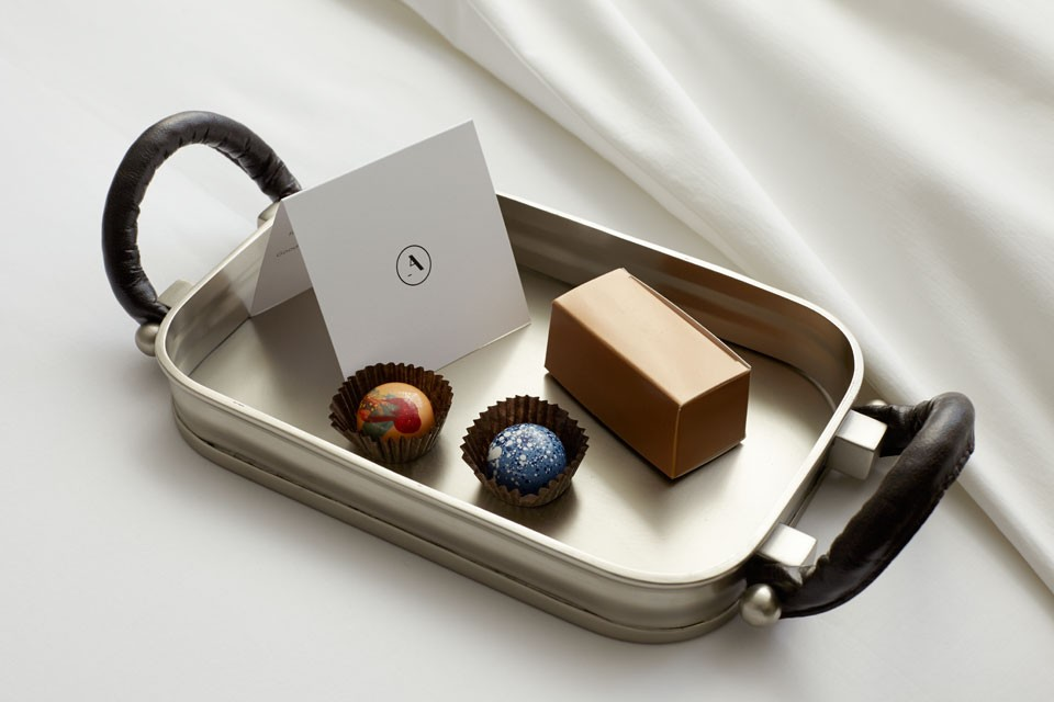 Archer Hotel Napa — turndown treats from CIA Chocolates