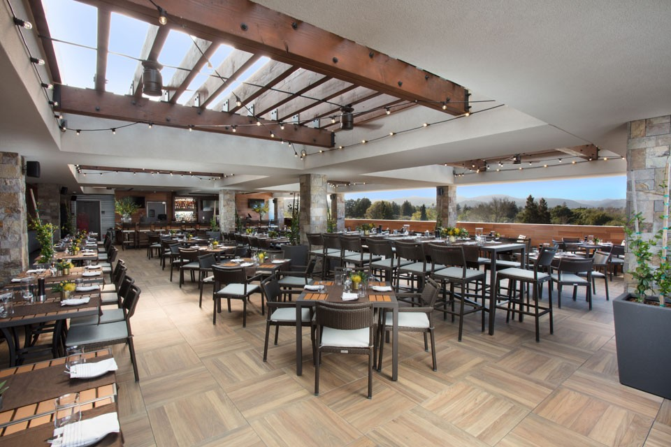 Archer Hotel Napa - Sky & Vine Restaurant Seating with top view