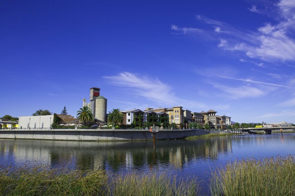 Downtown Napa view on the river