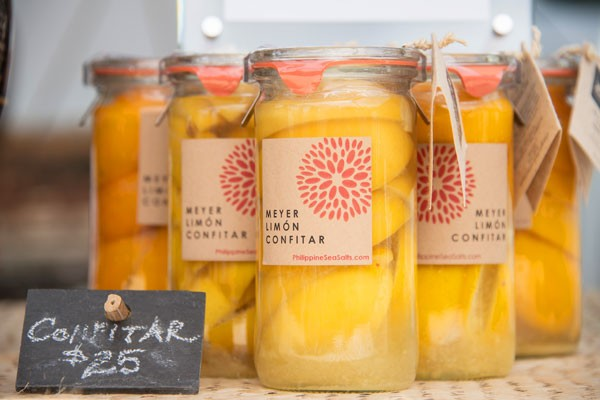 Jars of lemon confitar
