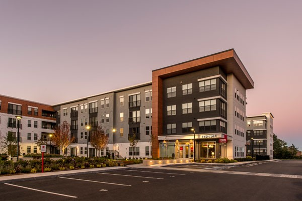 The Tremont Apartments and parking