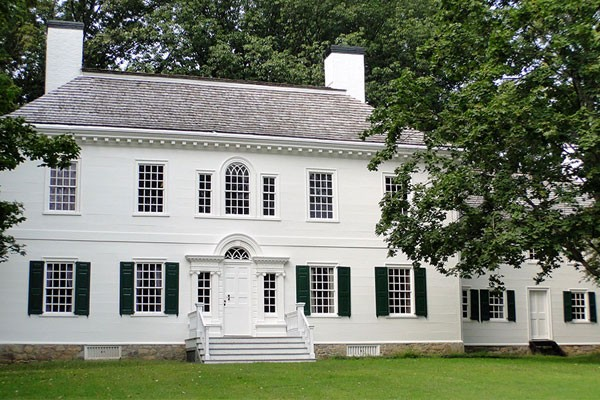 White Historic House in the Morristown Park