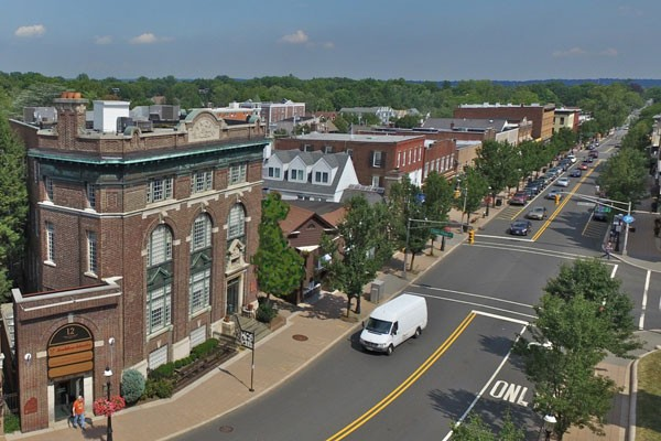 Rooftop view of Main Street