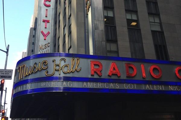 Radio City Music Hall Sign