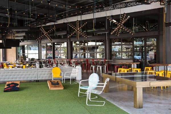 Culinary Dropout Restaurant Outdoor Seating and Games