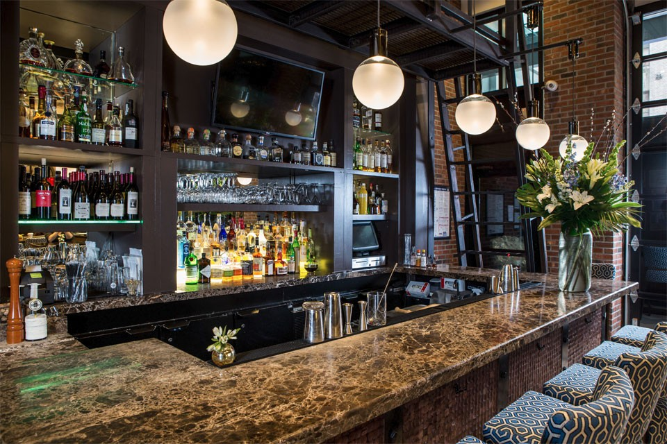 <p>Archer New York Hotel Foyer Bar Side View</p>