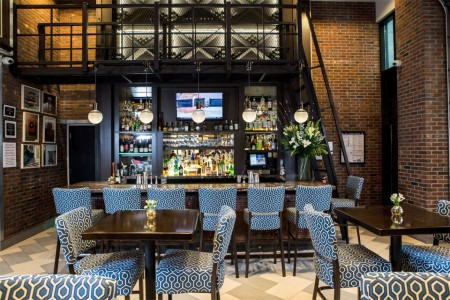 Archer Hotel New York — The Foyer Bar — wide view