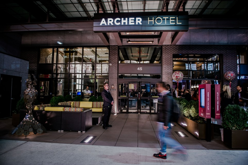 Archer New York Hotel Main Entrance with People