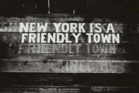 New York Is a Friendly Town, 1945 — Photograph by Weegee