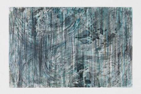 Untitled, 2014 — Conte, charcoal, acrylic, pastel on mylar by Diana Al-Hadid