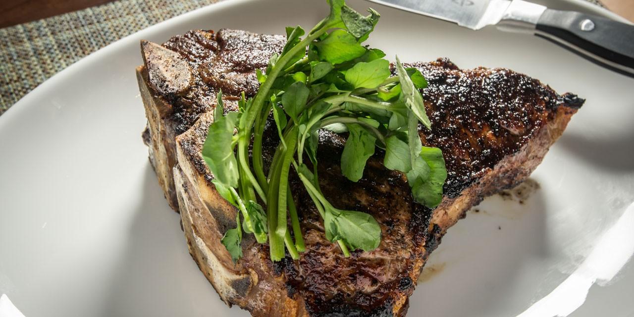 Porterhouse steak for two at Charlie Palmer Steak