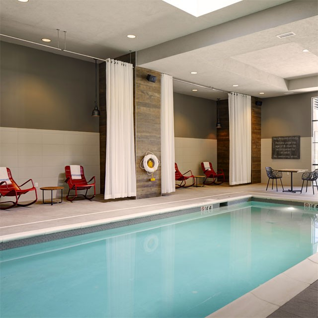 Indoor pool at Archer Hotel Florham Park