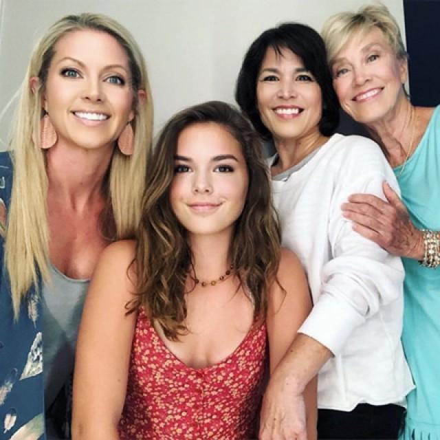 Closeup of four women