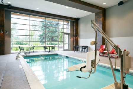 Archer's indoor pool with ADA-compliantlift