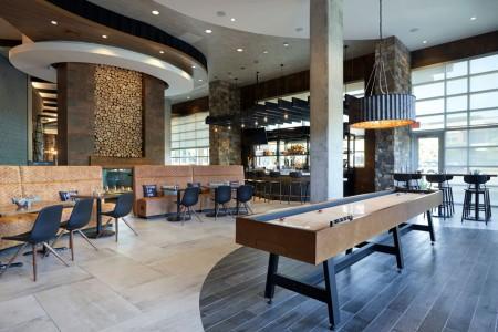 Shuffleboard in Archer's Kitchen + Bar