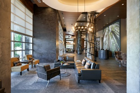 Hotel lobby with seating area